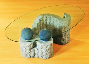 B/D30 asztal két gömbbel