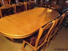 704. Óvális bővithető étkezőasztal