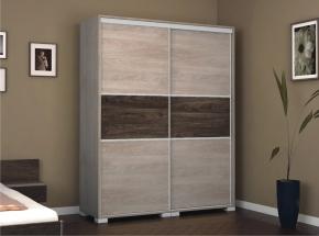 Lux tolóajtós gardrób szekrény 160 cm szélességgel avellino világos/sötét színben