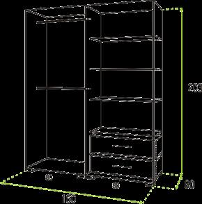 Lux tolóajtós gardrób szekrény 160 cm méretei
