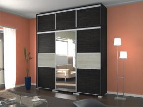Lux tolóajtós gardrób szekrény 240 cm szélességgel canterbury/avellino világos színben