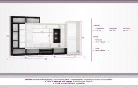 D/Sz1 Modern stílusú szekrénysor
