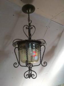 31051. Kovácsoltvas lámpa.