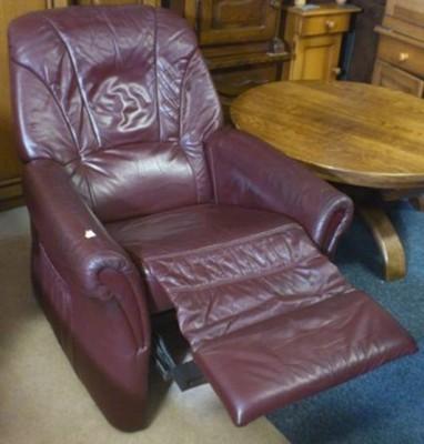 31230 Bőr lábtartós fotel