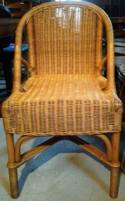 31242. Rattan kerti szék.
