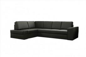 modern fekete sarok ülőgarnitúra
