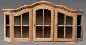 3 ajtós fali vitrin szekrény