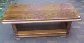 40351. Újságtartó polcos dohányzóasztal