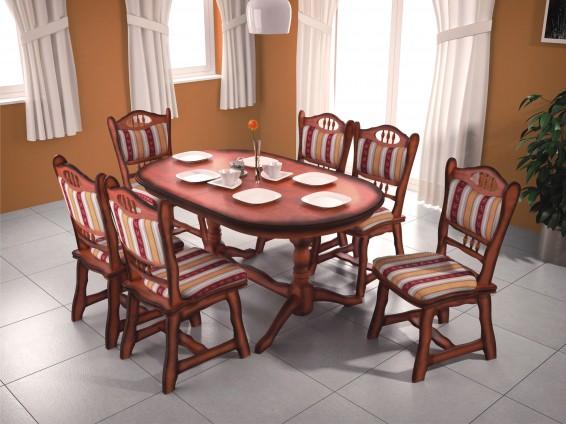 D/É27 6 személyes étkező asztal
