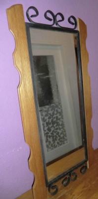 41153.Kovácsolt vas keretes fali tükőr