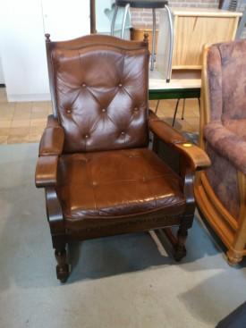 50349. Rusztikus tölgyfa keretes fotel