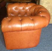 50511. Chesterfield bőr fotel