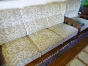 51141. Fakeretes szép plüsshuzatos, füles fotelek, füles ülőgarnitúra.