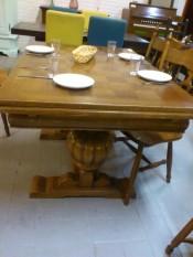 60247. Tölgyfa Intarziás asztal.