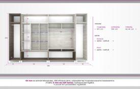 D/SZ12. Modern szekrénysor