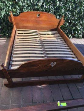 K712012. Holland rusztikus Tölgyfa ágykeret