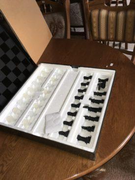 80402.  Üveg táblás sakk készlet