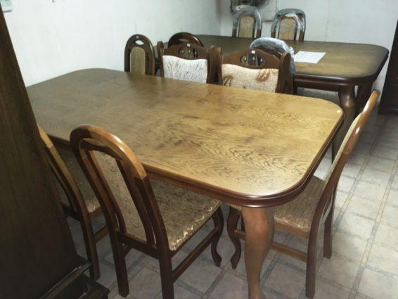 D/É29 8 személyes étkező asztal székkel