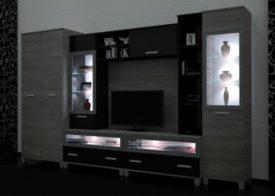 D/SZ124. Modern szekrénysor világítással.