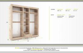 D/G100. Gardrób szekrény.