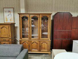 Holland tölgy fa vitrin szekrény.